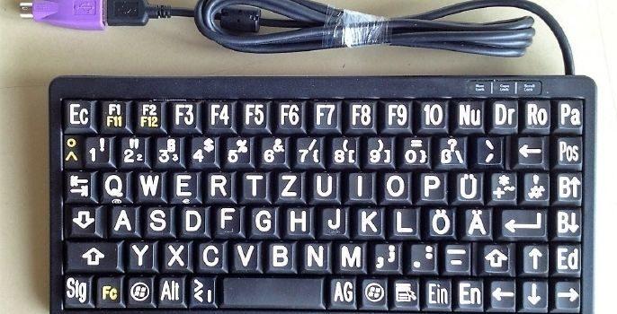 VG-20142 - 20144 Cherry Slim Line G84-4100 schwarz-weiß oder andere Farb-Sprachvarianten